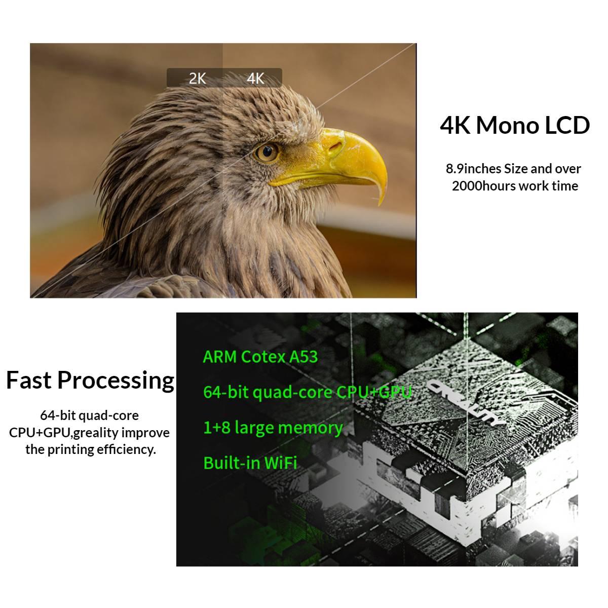 UK Creality Cl-89 Resin 3D Printer 3