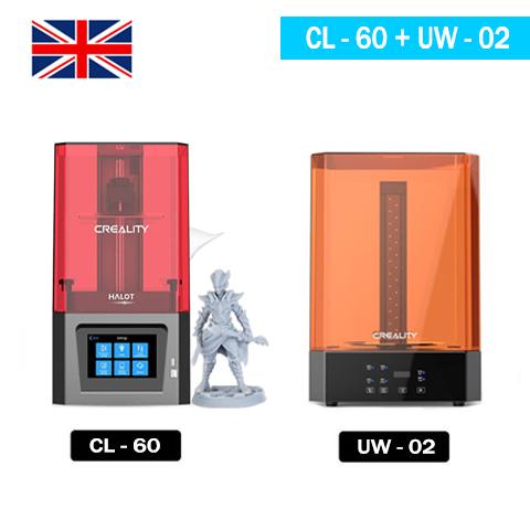 Creality Resin Printers Set - Halot One(CL-60) + UW-02 3D Printer UK