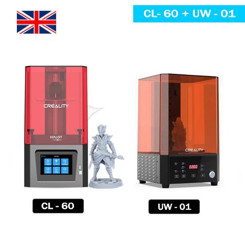 Creality Resin Printers Set - Halot One(CL-60) + UW-01 3D Printer UK