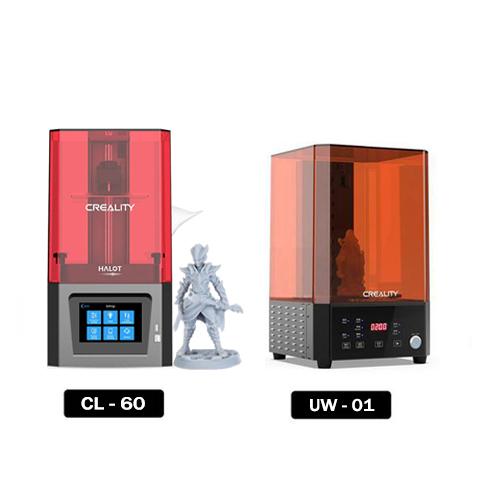 Creality Resin Printers Set - Halot One(CL-60) + UW-01 3D Printer UK Store