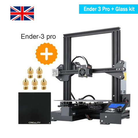 Ender 3 Pro 3D Printer + Tempered Glass Kits, Creality-UK Official Store