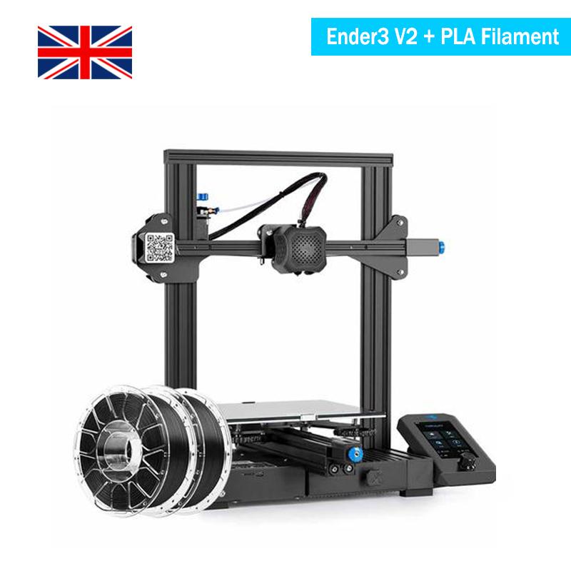 UK Creality Ender 3 V2 3D Printer + PLA Filament